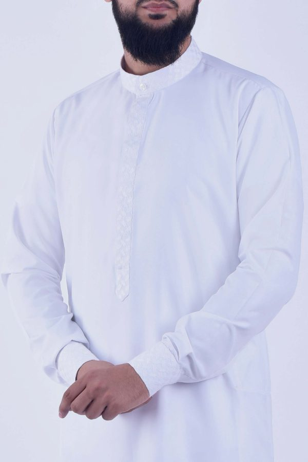 leader thobe alqamees jubba qamis white shemagh