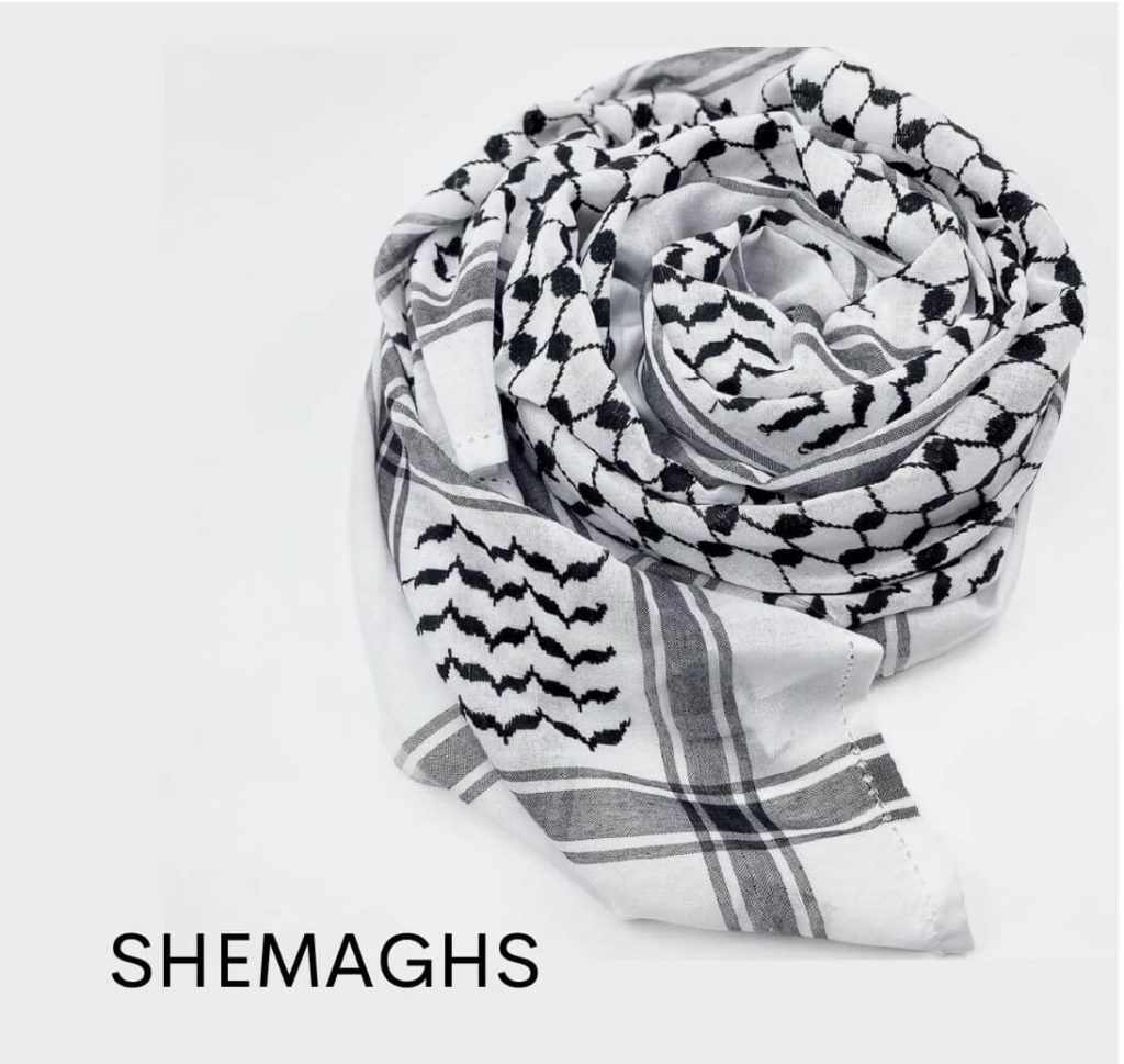 alqamees shemagh thobe palestine scarf